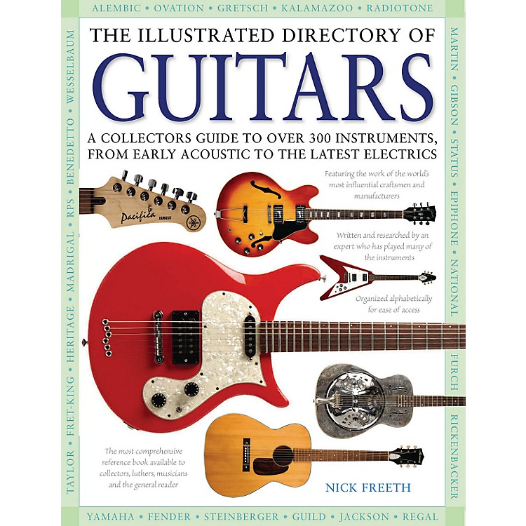 Hal Leonard The Illustrated Directory Of Guitars hard cover book