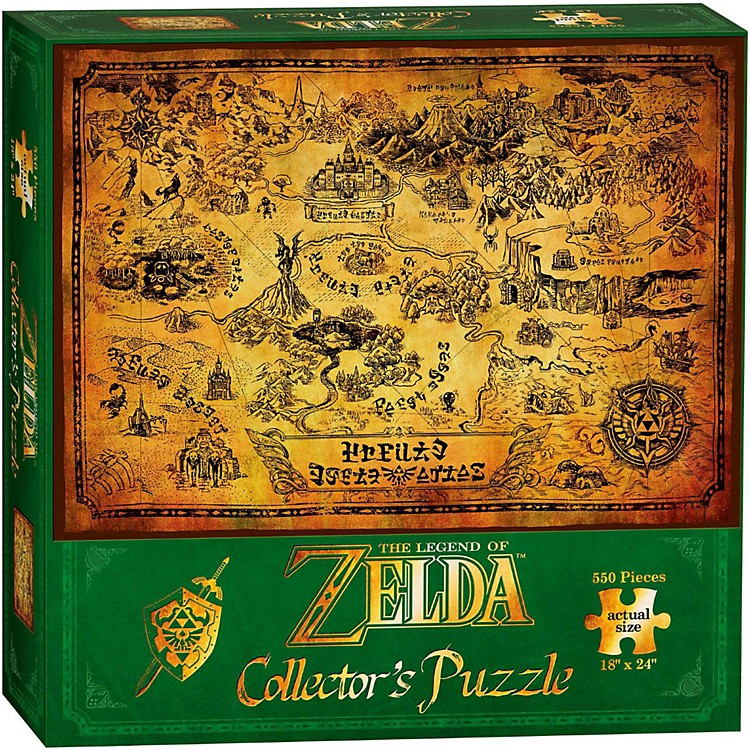 USAOPOLYThe Legend of Zelda Hyrule Map Collector's Puzzle