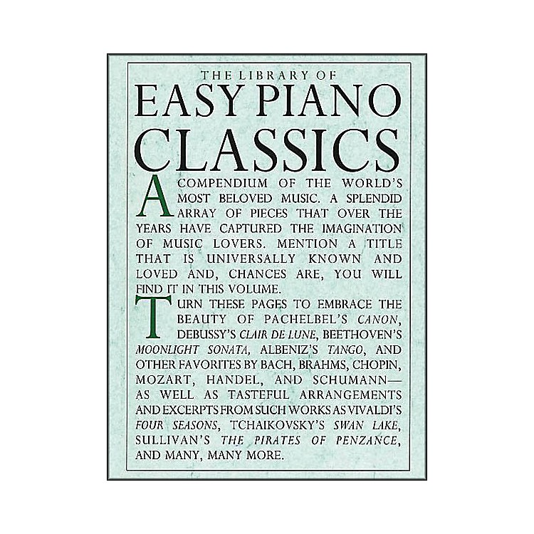 Music SalesThe Library Of Easy Piano Classics