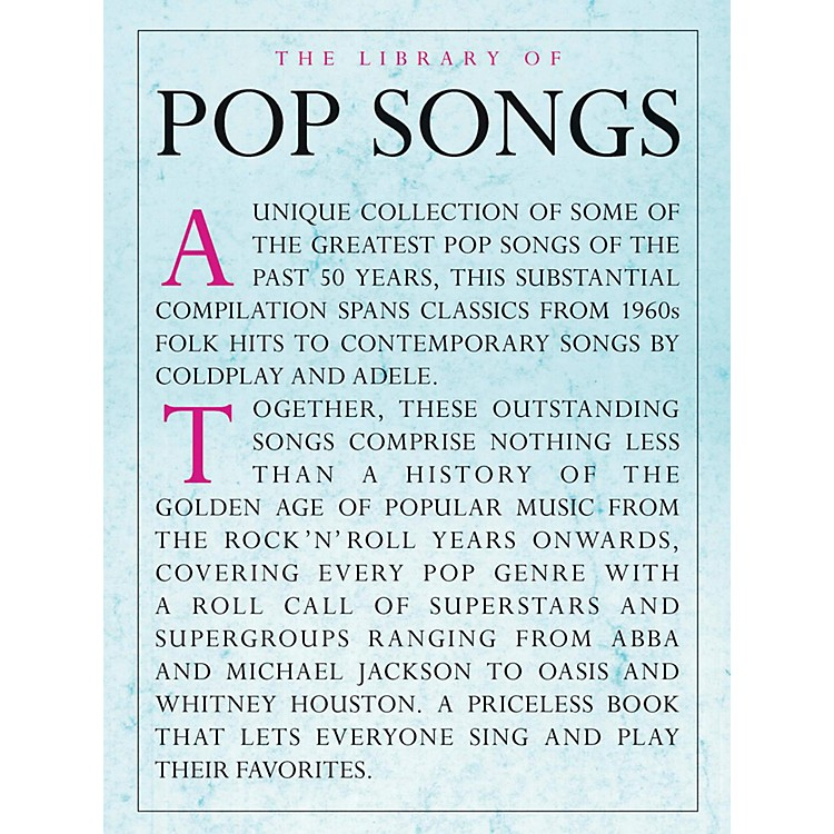 Music SalesThe Library Of Pop Songs Piano/Vocal/Guitar