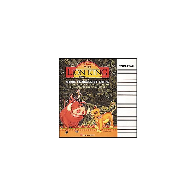 Hal LeonardThe Lion King Music Manuscript Paper