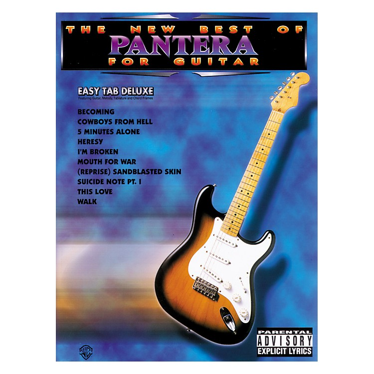Alfred The New Best of Pantera for Guitar Tab Book