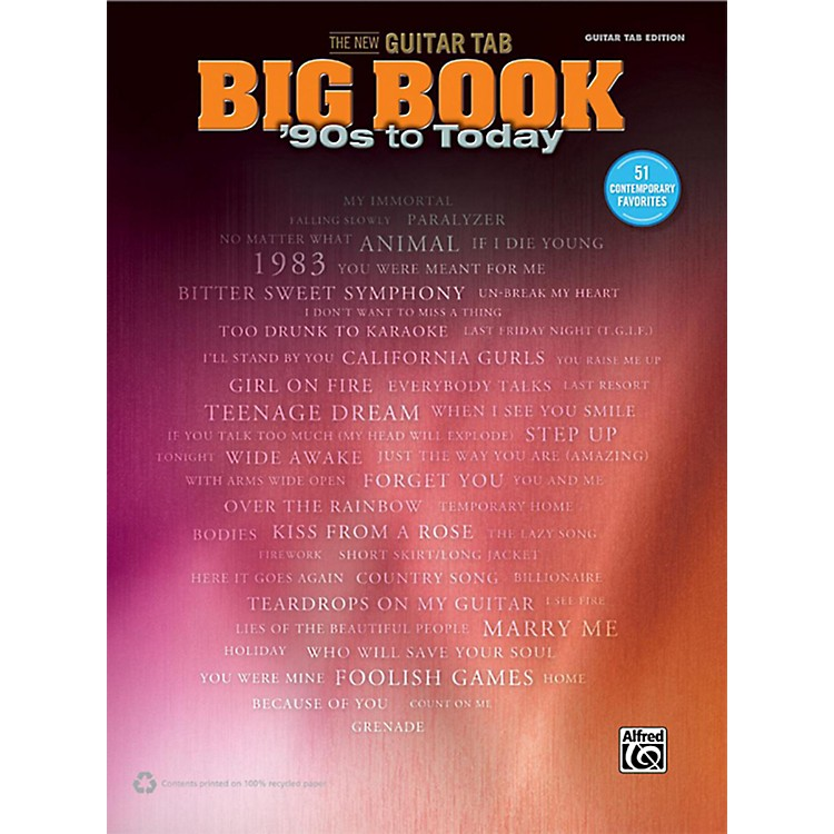 AlfredThe New Guitar TAB Big Book '90s to Today