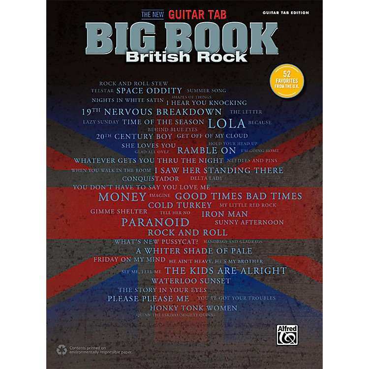 Alfred The New Guitar TAB Big Book British Rock