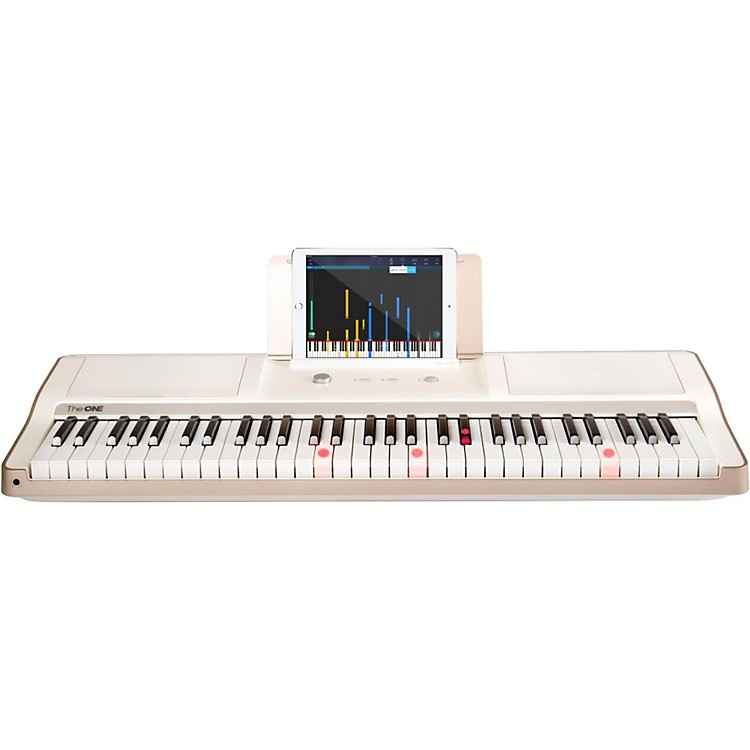 The ONE Music Group The ONE Smart Piano 61-Key Portable Keyboard White