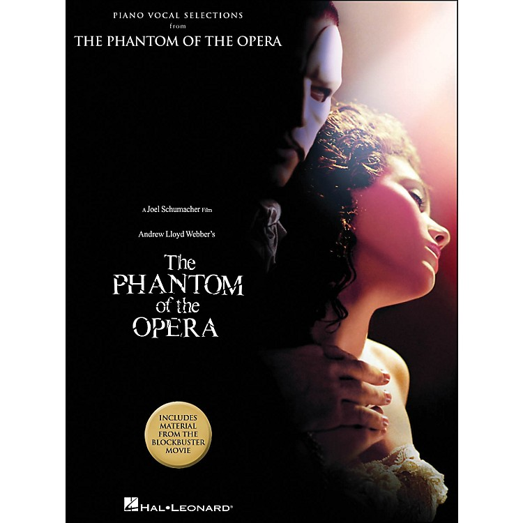 Hal Leonard The Phantom Of The Opera Piano Vocal Selections Blockbuster Movie arranged for piano, vocal, and guitar (P/V/G)