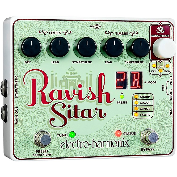 Electro-HarmonixThe Ravish Sitar Synthesizer Guitar Effects Pedal