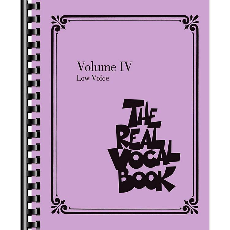 Hal LeonardThe Real Vocal Book Volume 4 - Low Voice