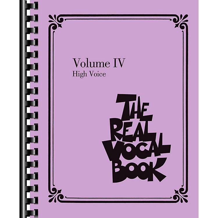 Hal LeonardThe Real Vocal Book Volume 4 (IV) - High Voice Fake Book
