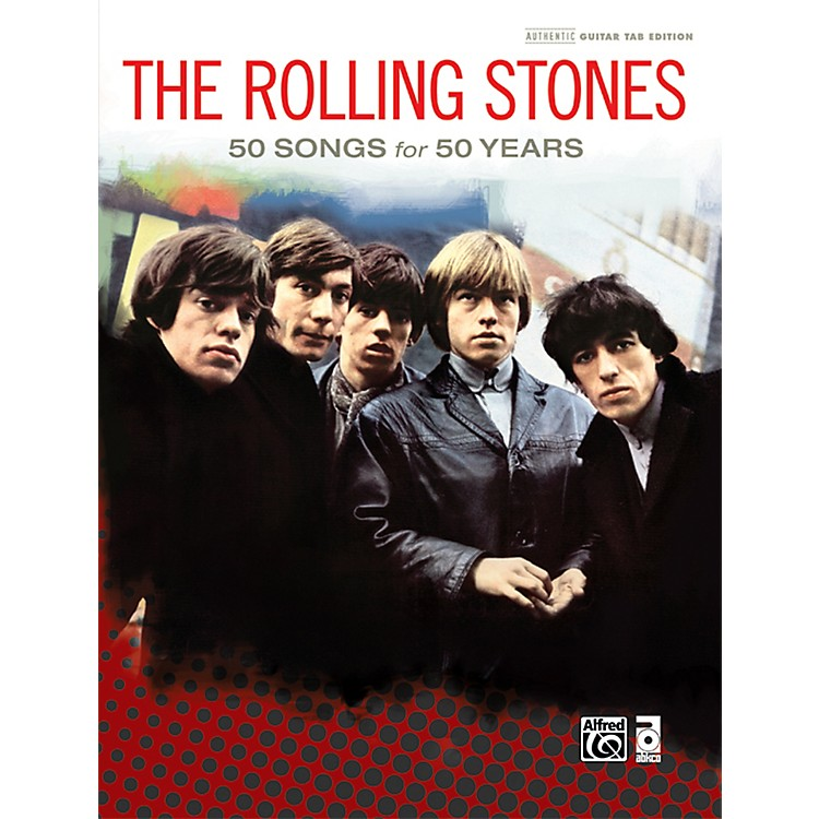 AlfredThe Rolling Stones - 50 Songs for 50 Years Hardcover Guitar TAB Book