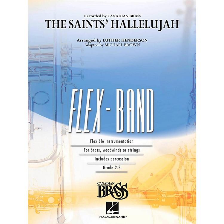 Hal LeonardThe Saints' Hallelujah (Canadian Brass Version) Concert Band Flex-Band Series