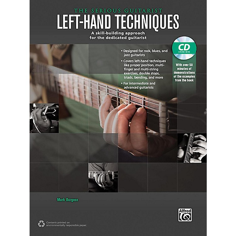 Alfred The Serious Guitarist Left-Hand Techniques Book & CD