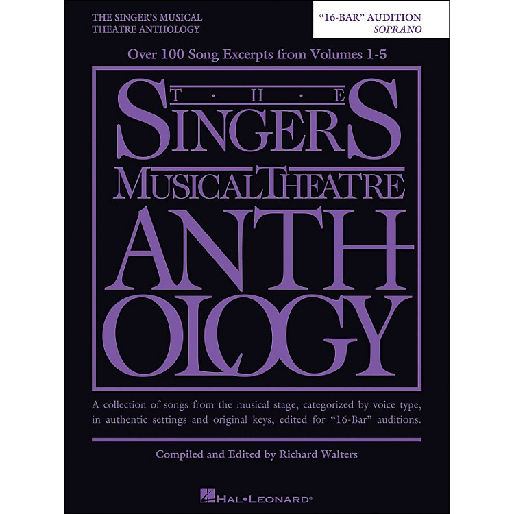 Hal LeonardThe Singer's Musical Theatre Anthology Soprano 16 Bar Audition