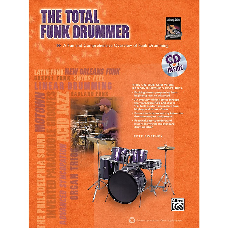 AlfredThe Total Funk Drummer (Book/CD)