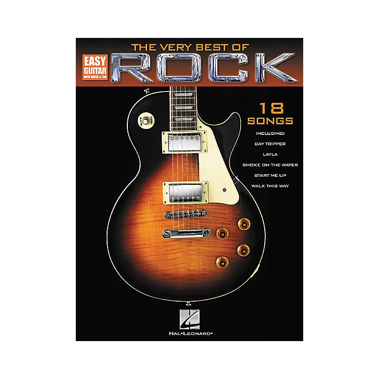 Hal Leonard The Very Best of Rock Easy Guitar Tab Songbook