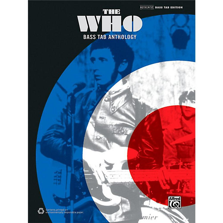 AlfredThe Who: Bass TAB Anthology - Authentic Bass TAB Songbook