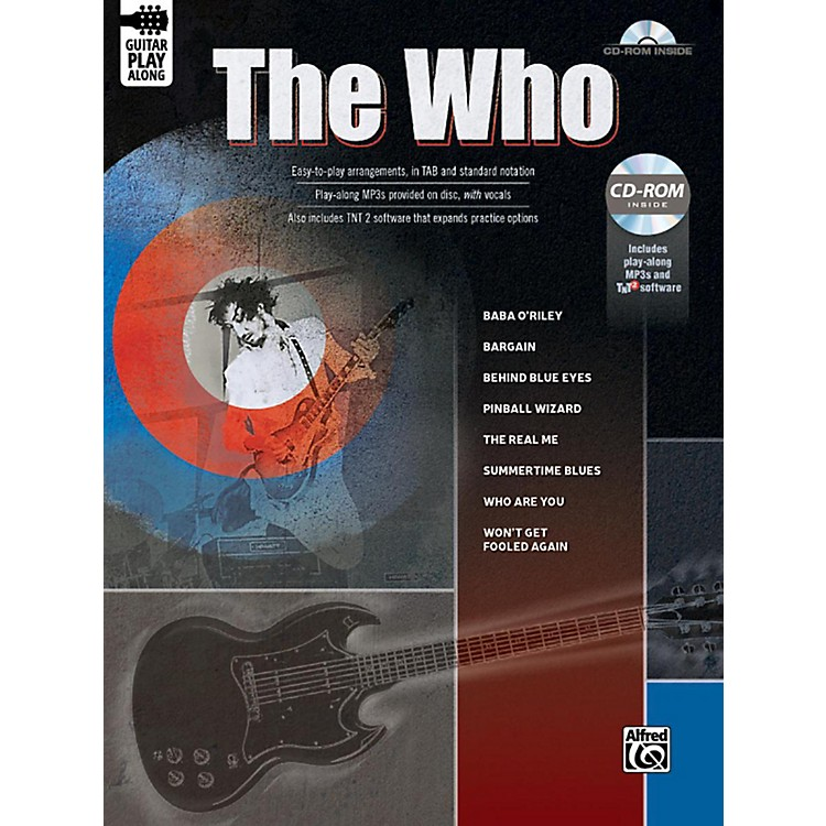 Alfred The Who Guitar Play-Along Guitar TAB Book & CD-ROM Songbook