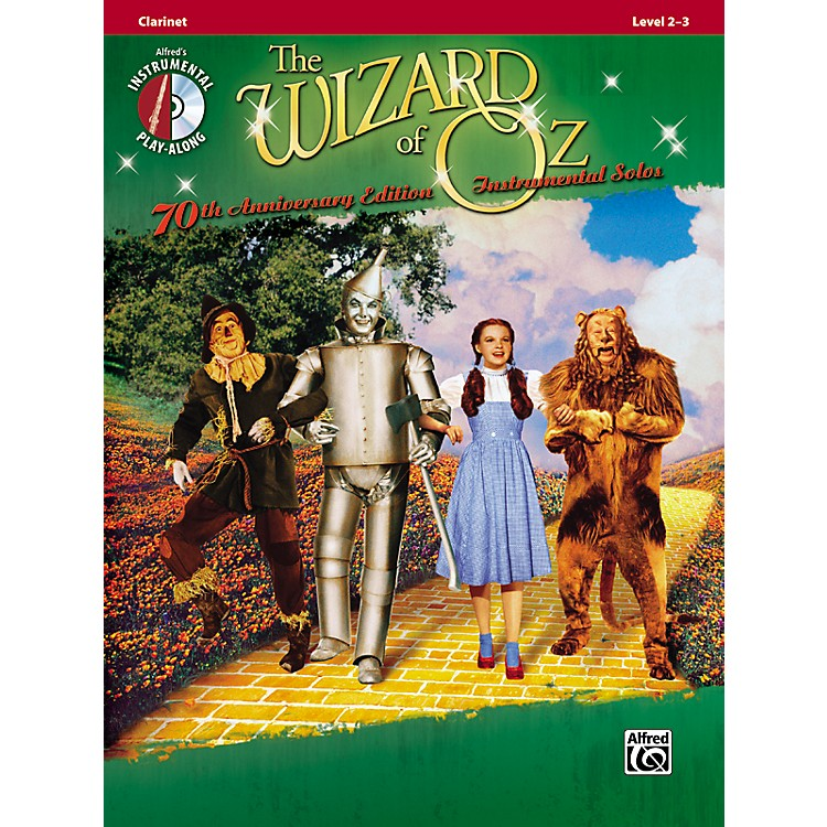 AlfredThe Wizard of Oz 70th Anniversary Edition Instrumental Solos: Clarinet (Songbook/CD)