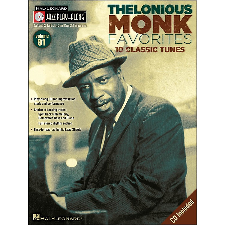 Hal Leonard Thelonious Monk Favorites - Jazz Play-Along Volume 91 CD/Pkg