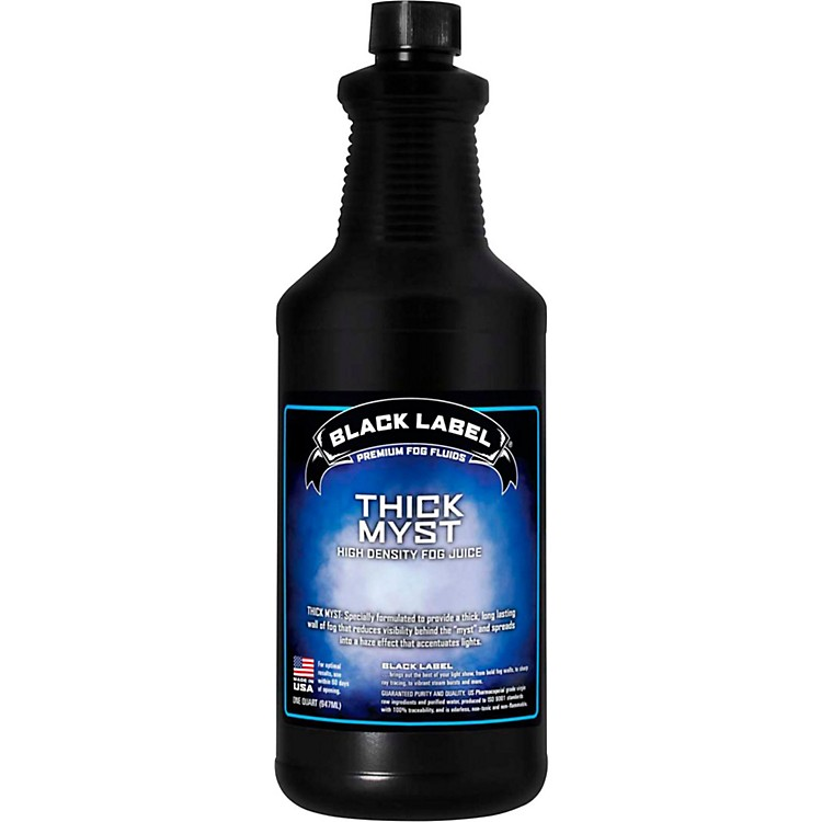 Black LabelThick Myst High Density Fog Juice - 1 Quart