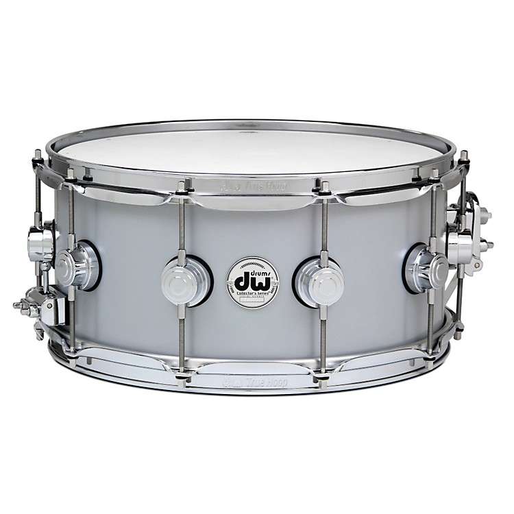 DW Thin Aluminum Snare Drum 14 x 6.5 in. Chrome Hardware