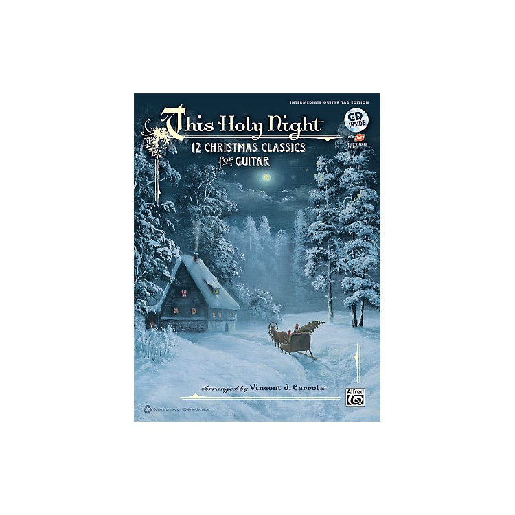 Alfred This Holy Night Guitar TAB Book & CD