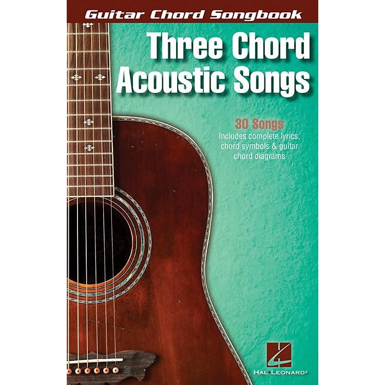 Hal LeonardThree Chord Acoustic Songs - Guitar Chord Songbook