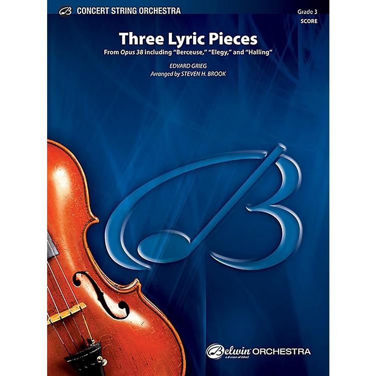 AlfredThree Lyric Pieces String Orchestra Grade 3 Set