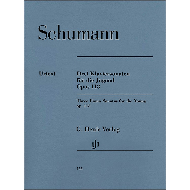 G. Henle Verlag Three Piano Sonatas for The Young Op. 118 By Schumann / Herttrich