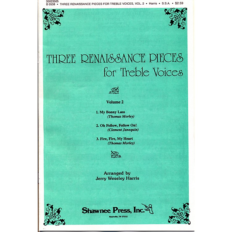 Hal Leonard Three Renaissance Pieces Vol. 2 SSA