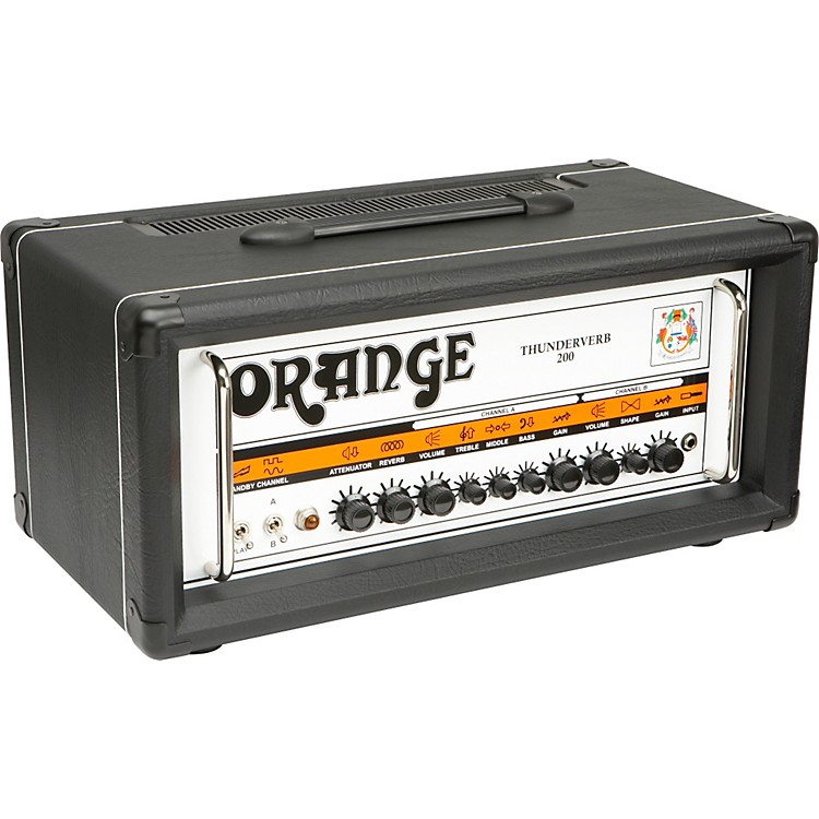 Orange Amplifiers Thunderverb 200 Series TH200HTC 200W Tube Guitar Amp Head Black