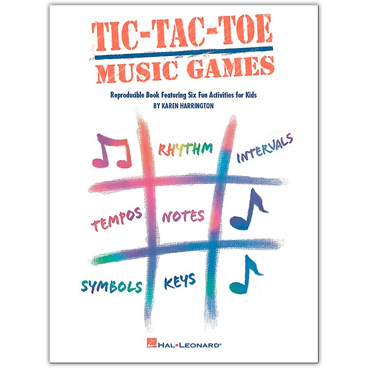 Hal LeonardTic-Tac-Toe Music Games Reproducible Book Featuring Six Fun Activities For Kids by Harrington