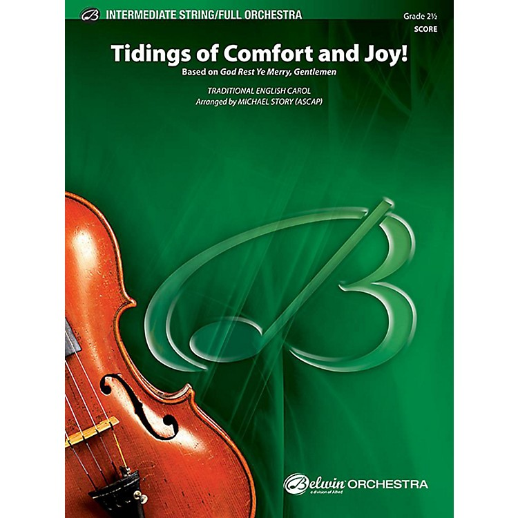 Alfred Tidings of Comfort and Joy! Full Orchestra Grade 2.5 Set