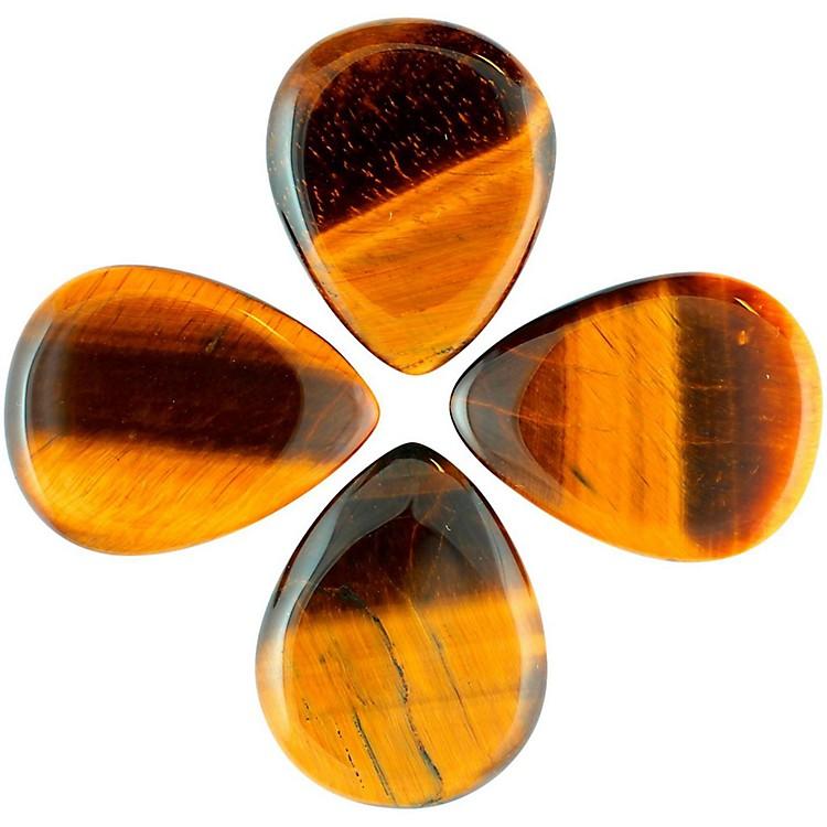 Timber TonesTiger Tones Gold Tiger Eye Single Plectrum Guitar Pick