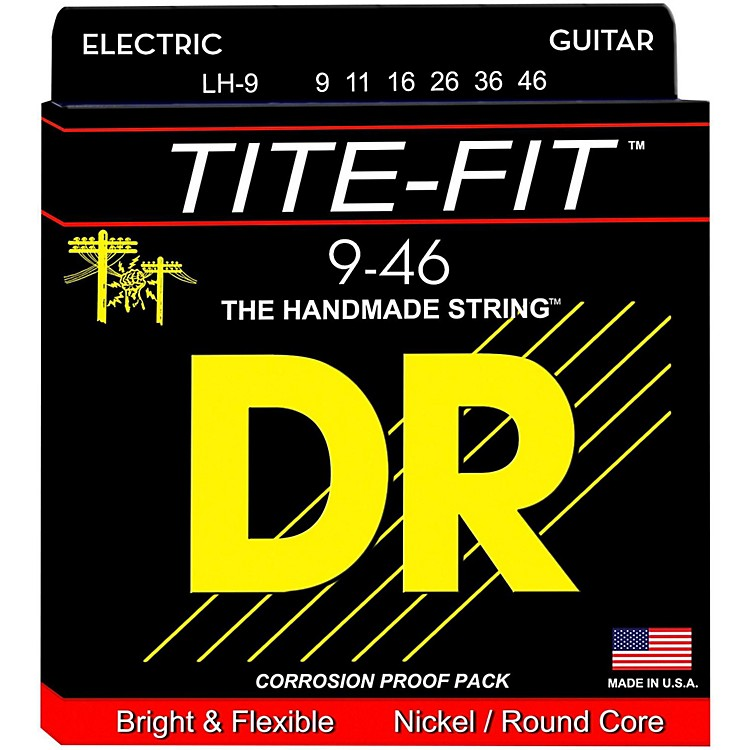 DR StringsTite-Fit LH-9 Lite-n-Heavy Nickel Plated Electric Guitar Strings