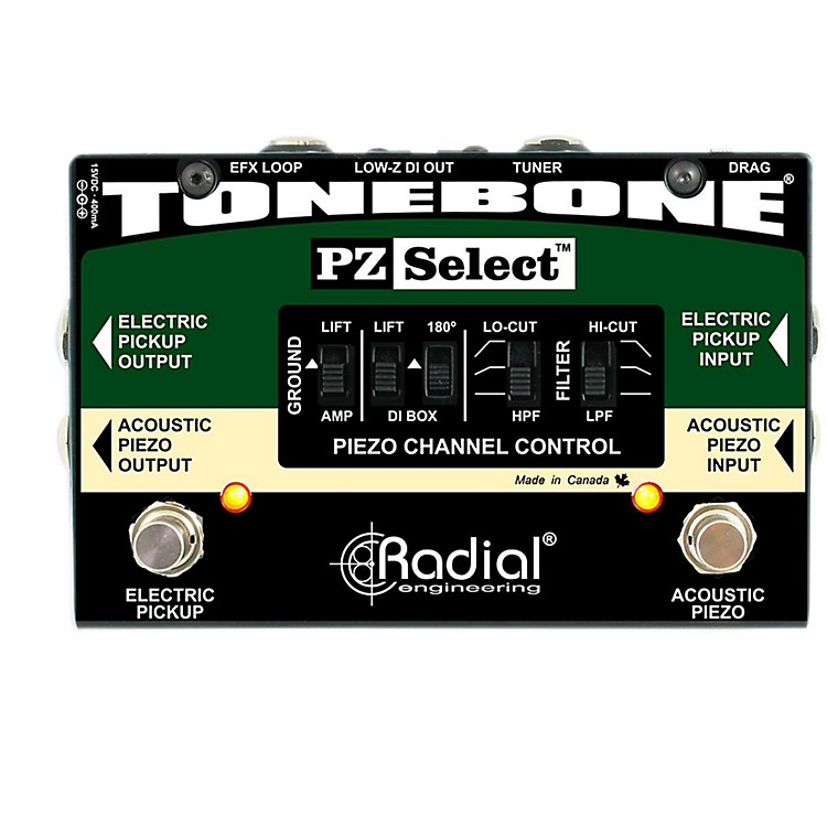 Radial Engineering Tonebone PZ Select Piezo and Magnetic Pickup Selector/ DI Box