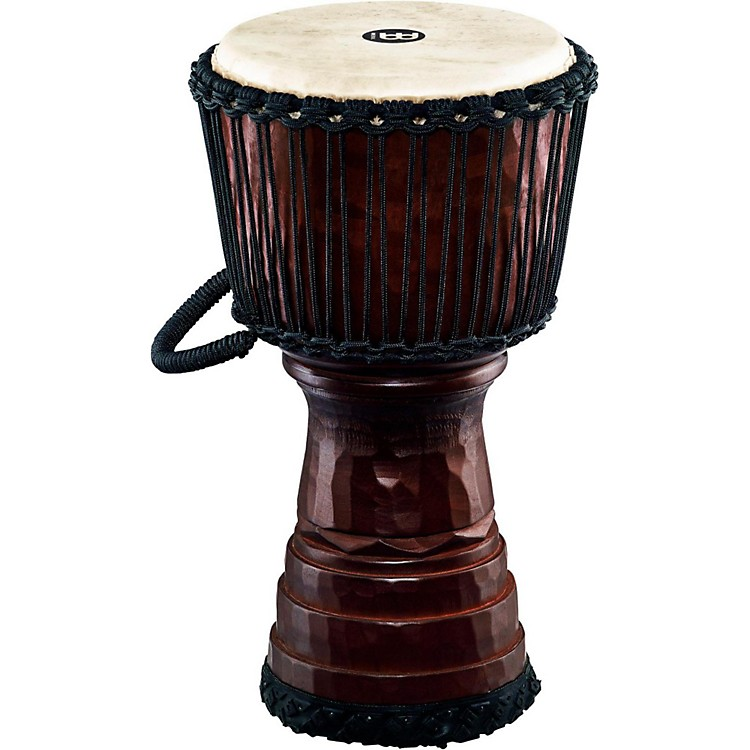 Meinl Tongo Carved Rope Tuned Mahogany Djembe 10 in.