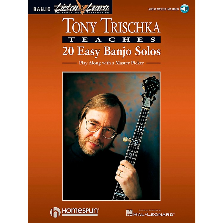 Homespun Tony Trischka Easy Banjo Solos CD/Pkg Listen & Learn