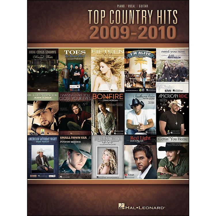 Hal LeonardTop Country Hits Of 2009-2010 arranged for piano, vocal, and guitar (P/V/G)