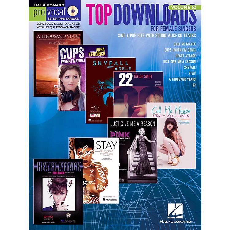 Hal LeonardTop Downloads - Pro Vocal Songbook & CD For Female Singers Vol. 62