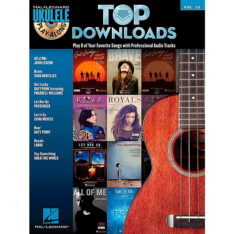 Hal LeonardTop Downloads - Ukulele Play-Along Series Vol. 32 Book/CD