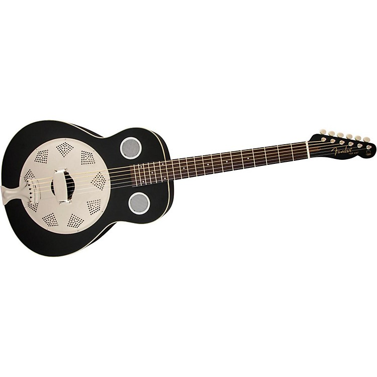Fender Top Hat Resonator Guitar Flat Black