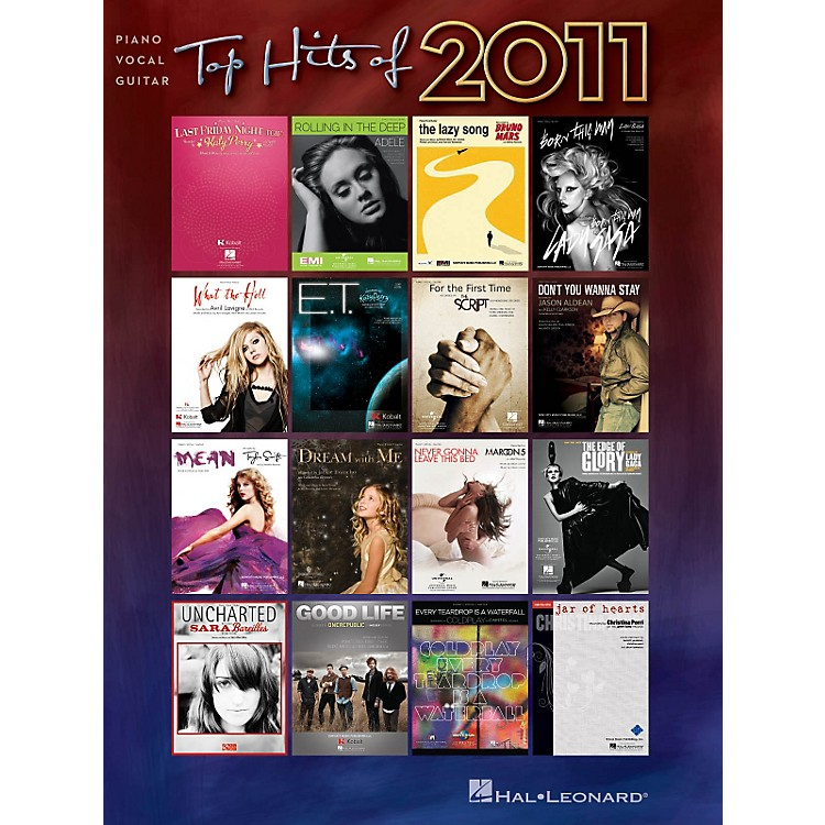 Hal Leonard Top Hits of 2011 Piano/Vocal/Guitar Songbook