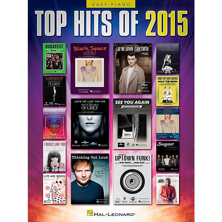 Hal Leonard Top Hits of 2015 Easy Piano Songbook