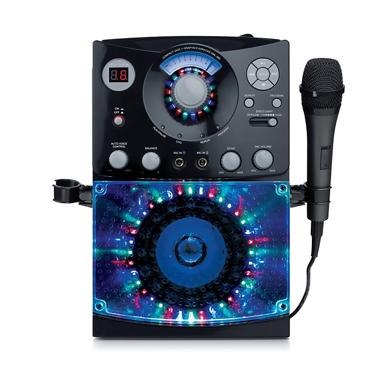 karaoke machine with lights