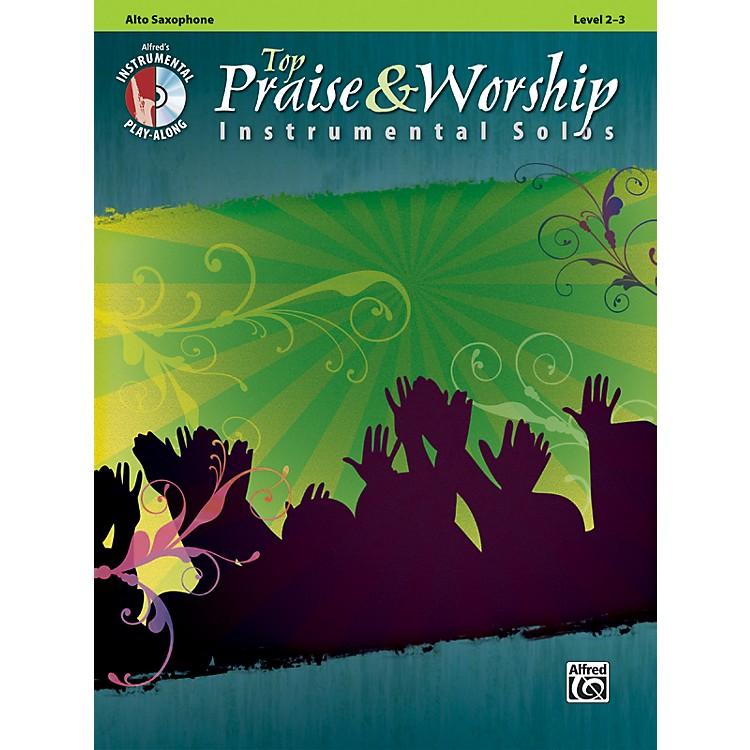 AlfredTop Praise & Worship Instrumental Solos - Alto Sax, Level 2-3 (Book/CD)