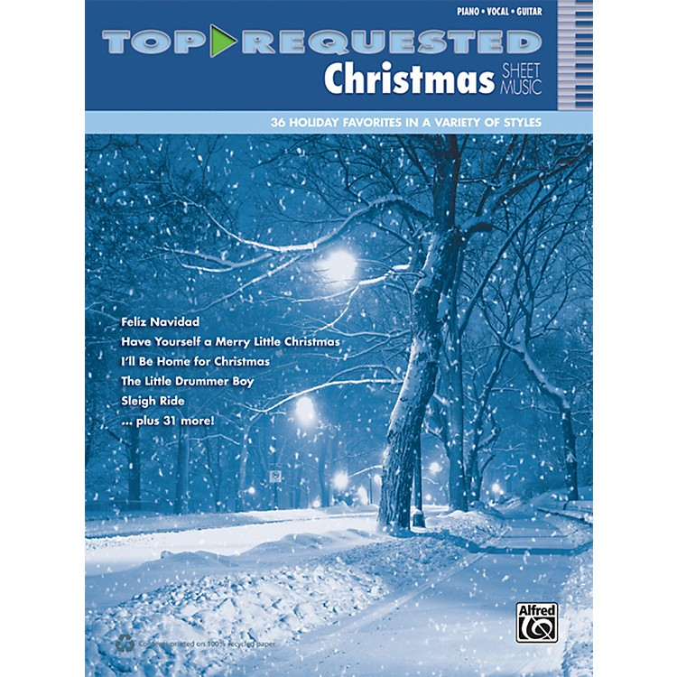 AlfredTop-Requested Christmas Sheet Music PVC Book