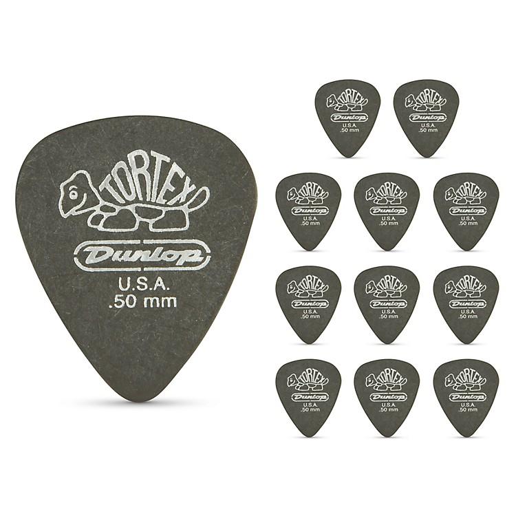 DunlopTortex Pitch Black Standard Guitar Picks 1 Dozen.50 mm
