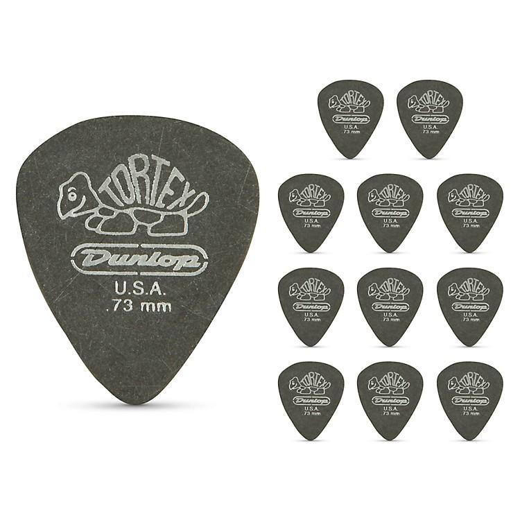 DunlopTortex Pitch Black Standard Guitar Picks 1 Dozen.73 mm
