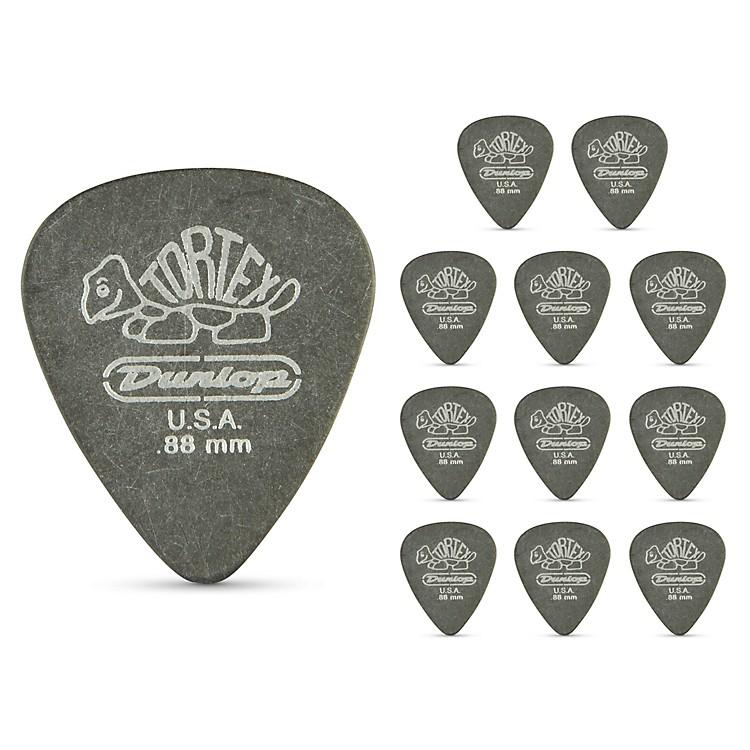 DunlopTortex Pitch Black Standard Guitar Picks 1 Dozen.88 mm